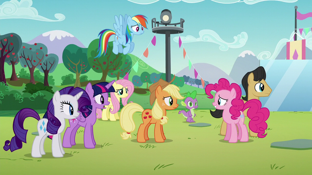 "File:Twilight ""What is it, Pinkie?"" S5E24.png"