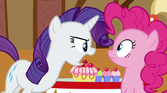 """File:Rarity shouting at Pinkie """"quit it!"""" S6E15.png"""