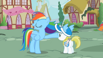 Rainbow Dash waving mane S2E8