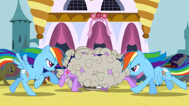 File:The ponies fight the changelings S2E26.png
