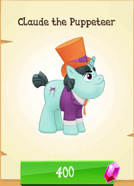 File:Claude the Puppeteer MLP Gameloft.png