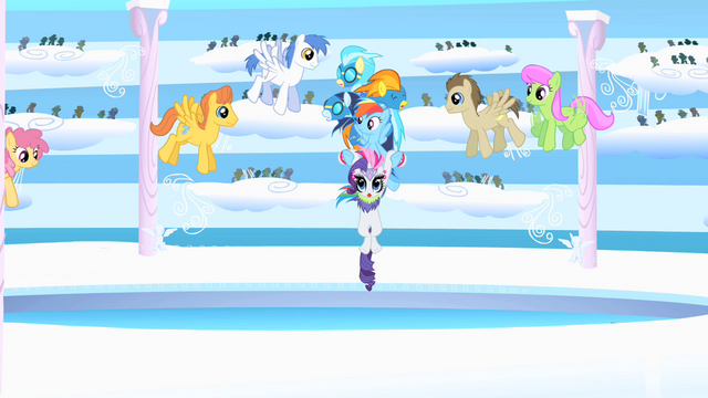 File:Rainbow bringing Rarity and Wonderbolts to arena S1E16.png