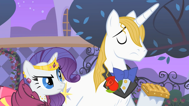 "File:Rarity and Blueblood ""at least SOMEPONY has good manners"" S01E26.png"