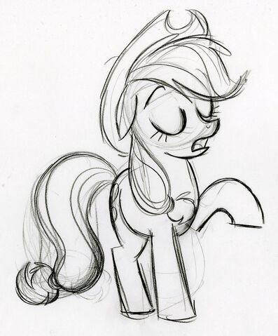File:Applejack Telling Someone Sketch.jpg