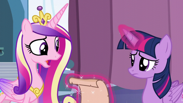 "File:Cadance ""there's only one way to find out!"" S6E2.png"