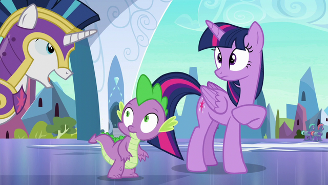 "File:Shining Armor ""he'll be safe with our guards"" S6E16.png"