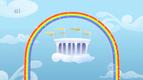 Cloudsdale and the rainbow overhead S1E16