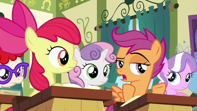 "File:Scootaloo ""even need to know that stuff"" S6E14.png"