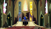 Princess Luna in the old castle throne room S5E13