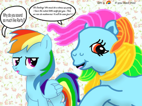 File:FANMADE Old and New Rainbow Dash Talking.jpg