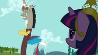 Discord exploits Twilight's devotion to Celestia S03E10