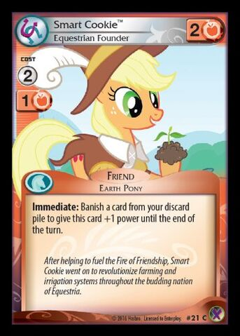 File:Smart Cookie, Equestrian Founder card MLP CCG.jpg