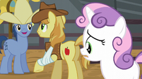 Sweetie Belle worried about the events' danger S5E6