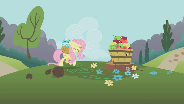 File:Fluttershy and apples S1E10.png
