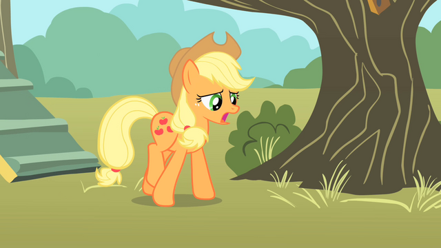File:Applejack walking away from clubhouse S01E18.png