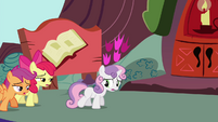 Cutie Mark Crusaders out of breath S4E15