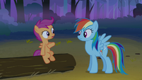 Scootaloo talking to Rainbow Dash S3E6