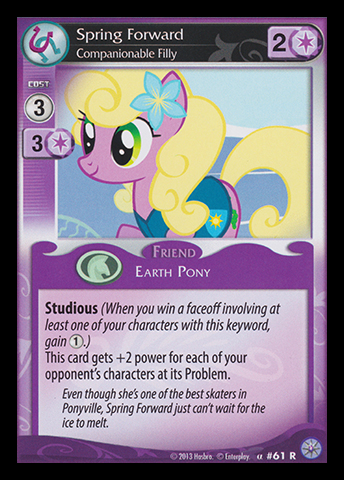 File:Spring Forward, Companionable Filly card MLP CCG.jpg