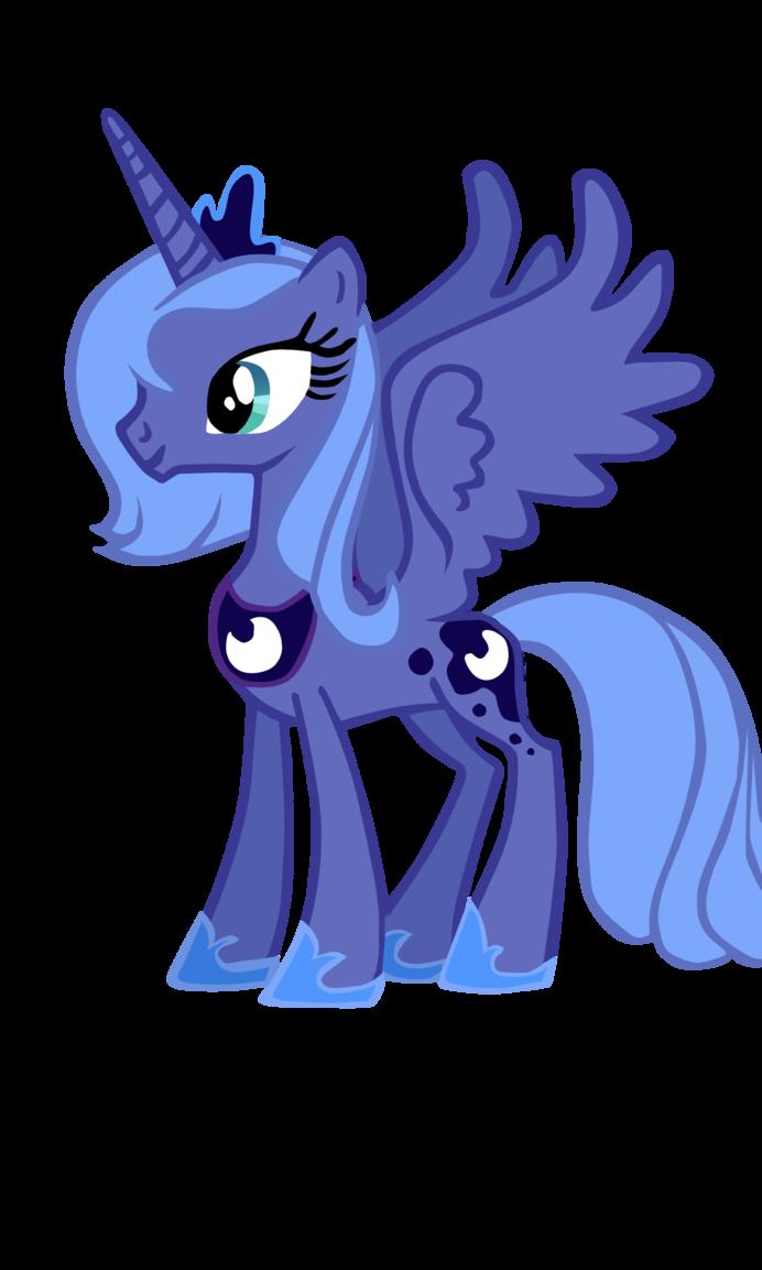 image  princess luna season 1 design vector  my