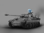 Trixie and WWII tank (Panther) by artist-filincool