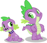 Spike and spike by hampshireukbrony