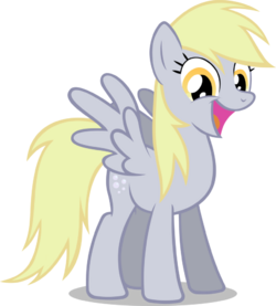 Derpy is a happy pony by noxwyll