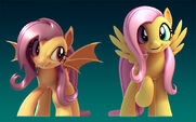 Fluttershy and Flutterbat 3D rig by 2Snacks