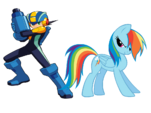 Rainbow Dash and Mega Man