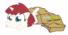 81342 - Alicorn artist-dachimotsu Lauren Faust OC ponified sandwich sock filly Subway