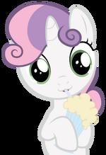 Sweetie Belle drinking her vanilla milkshake