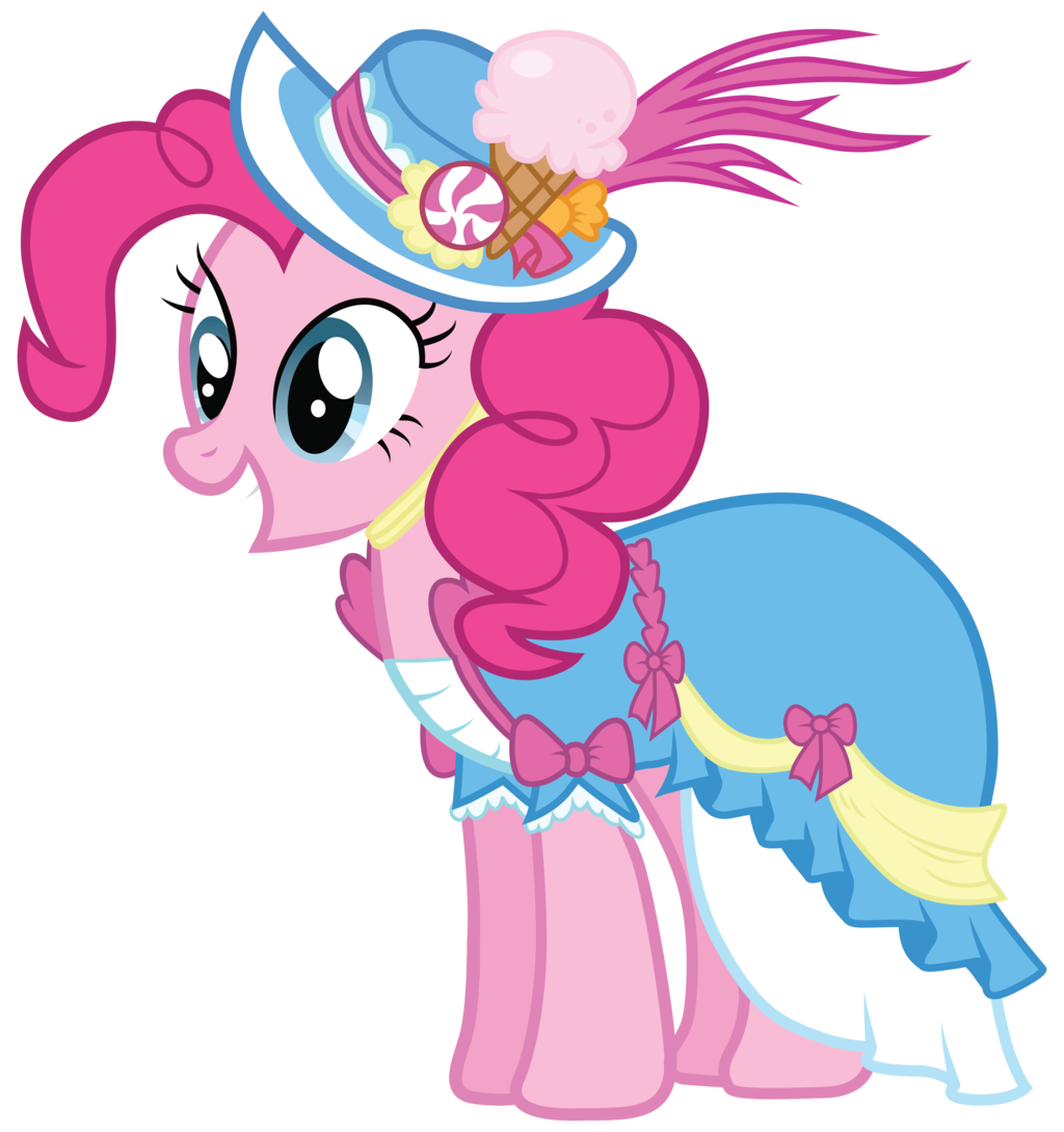 image   pinkie pie in a coronation dress with a hat png