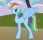 Rainbow Alicorn 4