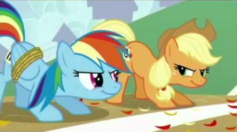 MLP FIM - Hit me with your best shot - Applejack Rainbow Dash