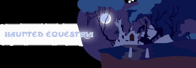 EqD Halloween Banner - HauntedEquestria