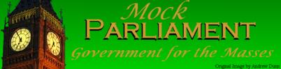 Mock Parliament Banner