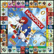 Monopoly Sonic Hedgehog board