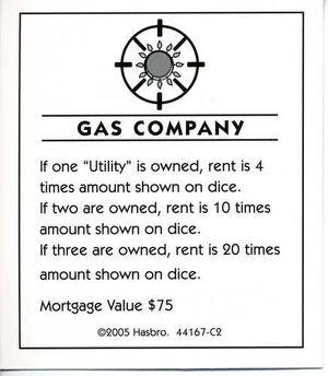 Gas company deed