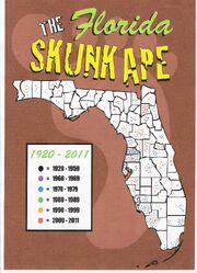 Skunk Ape Sightings maps