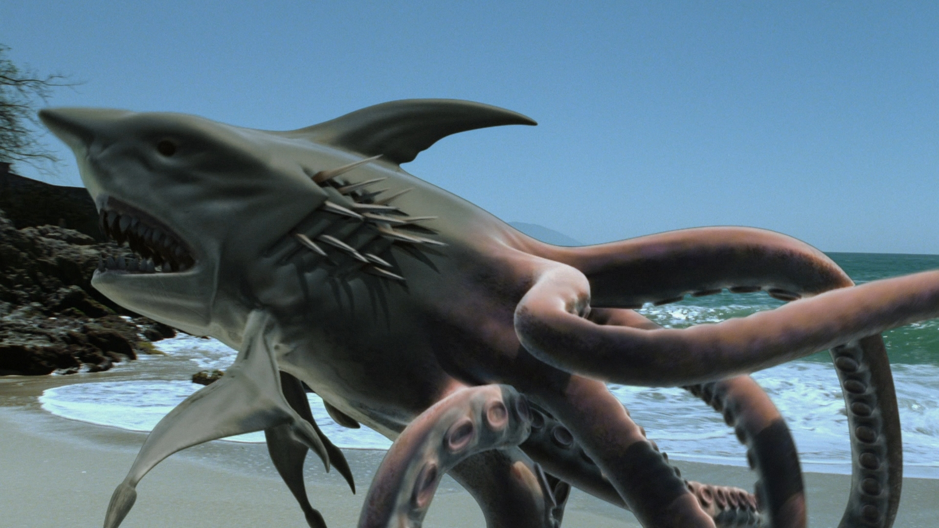 Megalodon shark vs giant squid