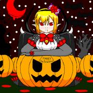 Halloween Art - Vampire Girl