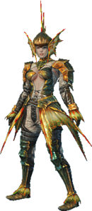 MHO-Plesioth Armor (Blademaster) (Female) Render 001