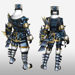 FrontierGen-Sabeji G Armor (Gunner) (Back) Render