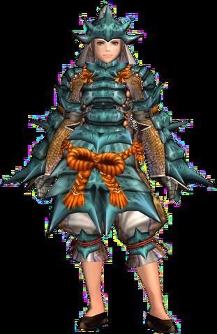 File:FrontierGen-Kutkusu G Armor (Female) (Blademaster) Render 001.png