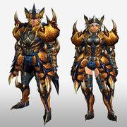 FrontierGen-Tigrex G Armor (Blademaster) (Front) Render