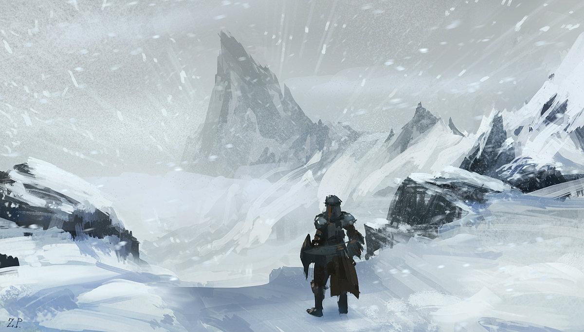 Snow Mountain Concept Art