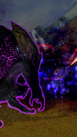 File:MHSP-Frenzied Gore Magala and Rathalos Screenshot 002.jpg
