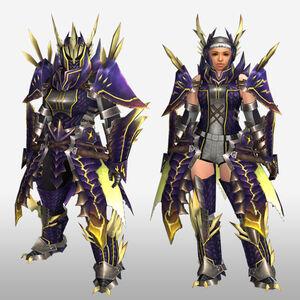 FrontierGen-Rebi G Armor (Blademaster) (Front) Render