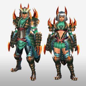 FrontierGen-Kyubyi Armor (Both) (Front) Render