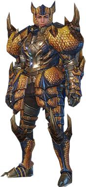 File:MHO-Tigrex Armor (Blademaster) (Male) Render 001.png