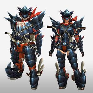 FrontierGen-Guren G Armor (Blademaster) (Front) Render